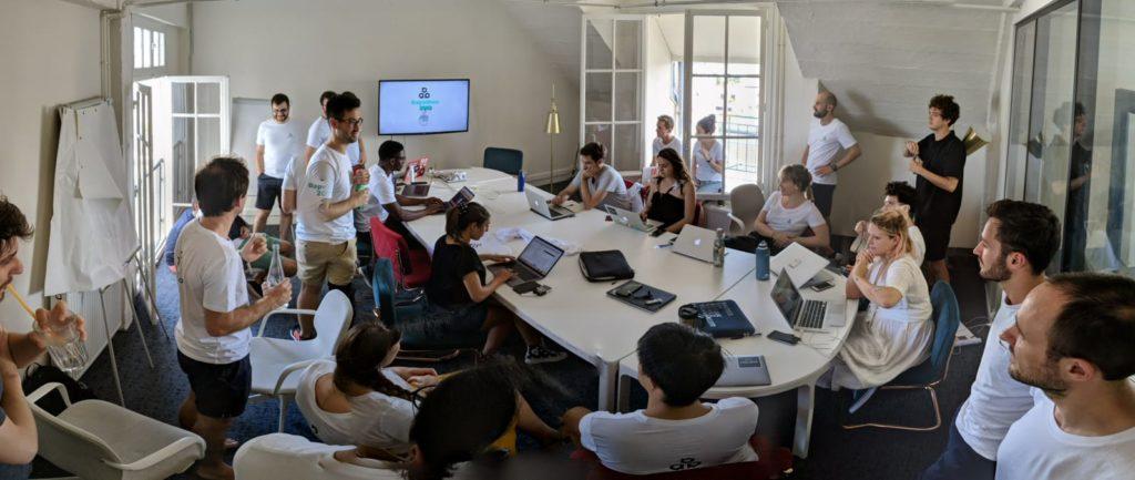 Le hackathon qui se tenait chez Morning République, en juin 2019.