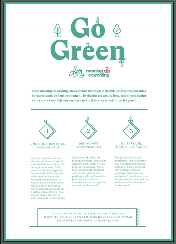 Go Green, une initiative interne menée par 20 collègues.