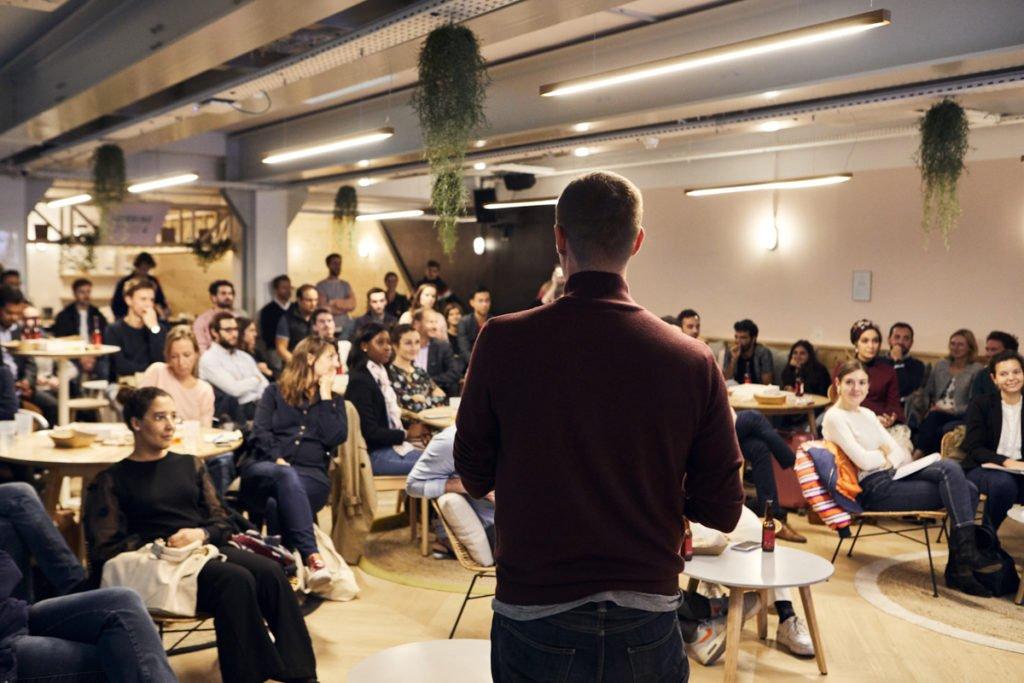 """""""Embarquez dans l'aventure entrepreneuriale"""" - Morning Coworking Amsterdam / Crédit : Benoit Drouet"""
