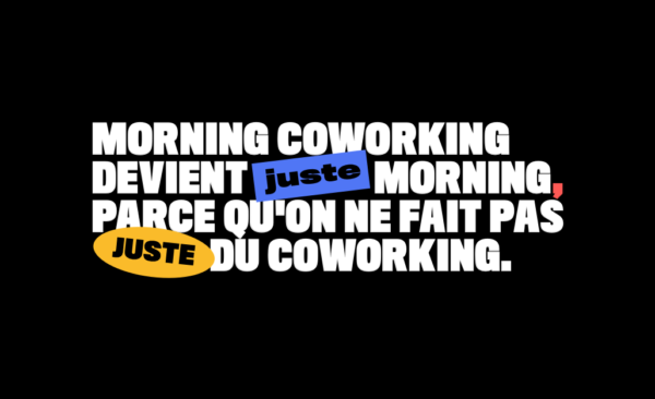 Morning Coworking devient Morning !