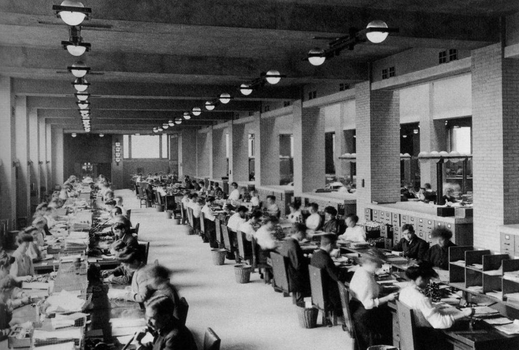 evolution espace de travail bureau tayloriste