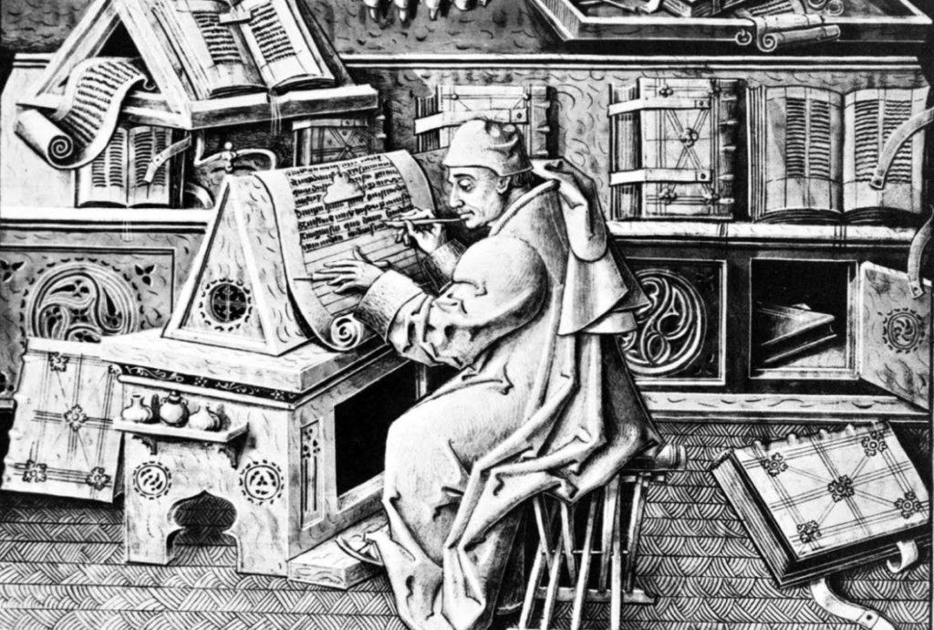 evolution espace de travail scriptorium moyen age