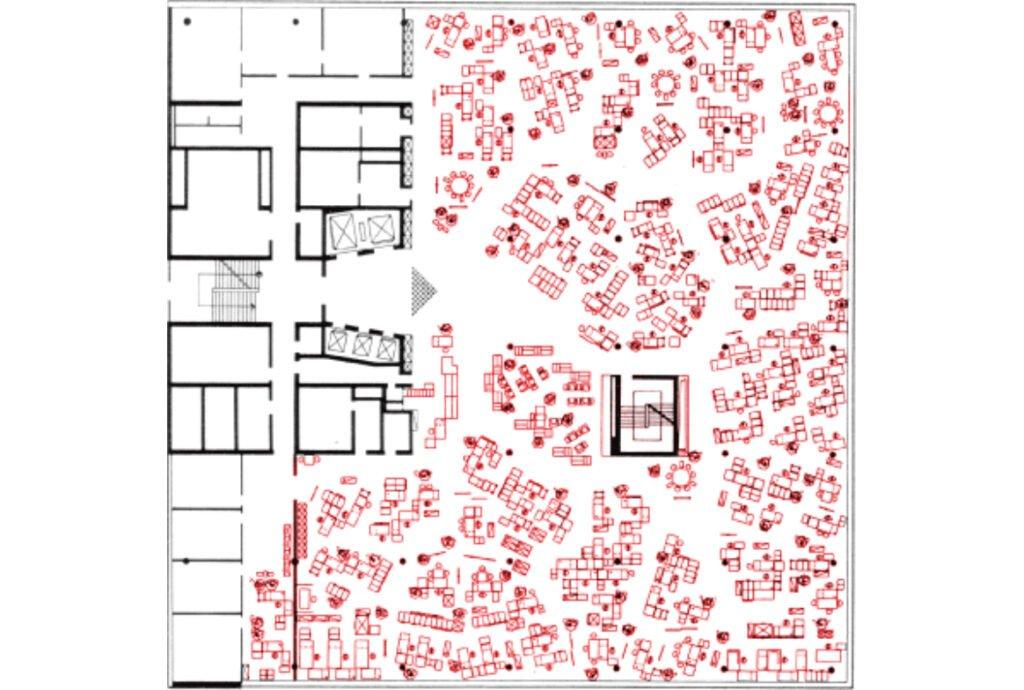plan burolandschaft espace devient reseau